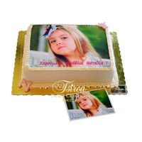 birthday cake with photo print